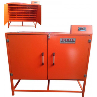 Machine for drying textile paints.